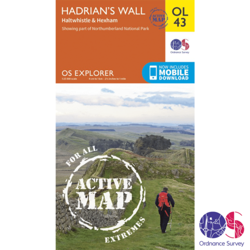 Ordnance Survey Explorer Active – OL 43 – Hadrians Wall