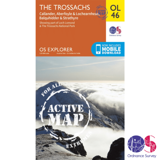 Ordnance Survey Explorer Active – OL 46 – The Trossachs