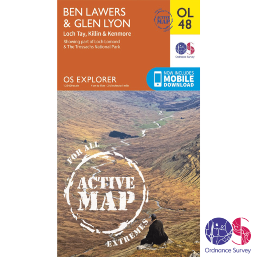 Ordnance Survey Explorer Active – OL 48 – Ben Lawers and Glen Lyon