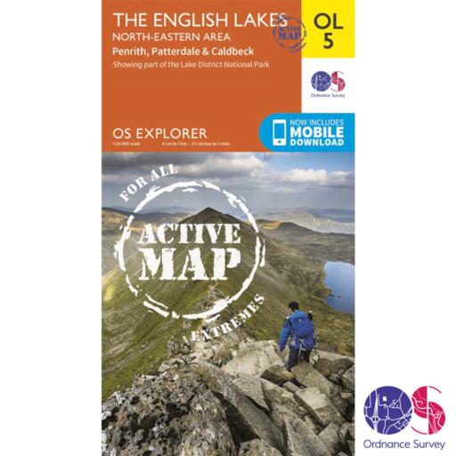 Ordnance Survey Explorer Active – OL 5 – English Lakes NE
