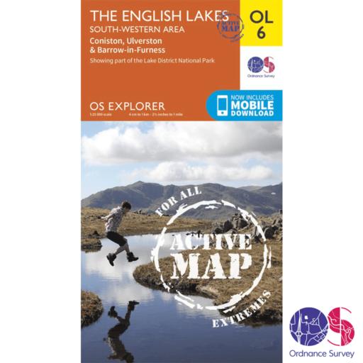 Ordnance Survey Explorer Active – OL 6 – English Lakes SW