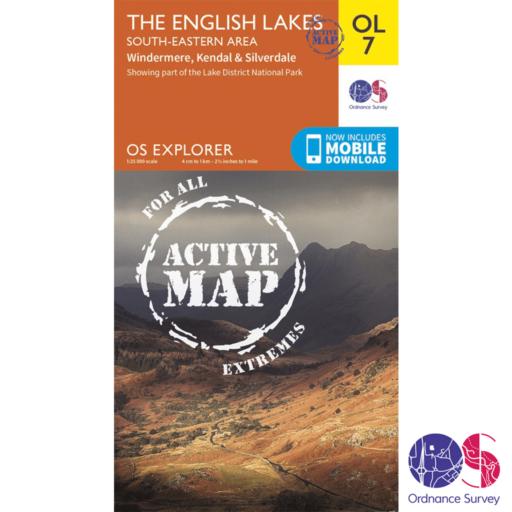Ordnance Survey Explorer Active – OL 7 – English Lakes SE