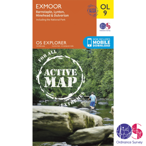 Ordnance Survey Explorer Active – OL 9 – Exmoor