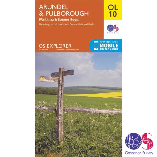 Ordnance Survey Explorer – OL 10 – Arundel and Pulborough