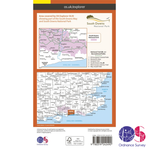 Ordnance Survey Explorer – OL 10 – Arundel and Pulborough