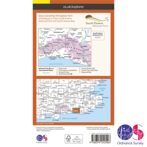 Ordnance Survey Explorer – OL 11 – Brighton and Hove