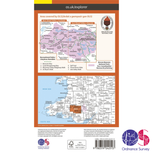 Ordnance Survey Explorer – OL 12 – Brecons West