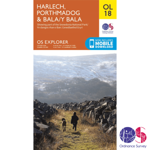 Ordnance Survey Explorer – OL 18 – Harlech, Porthmadog and Y Bala
