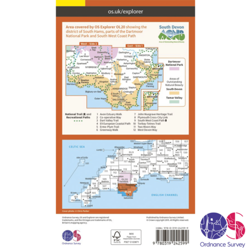 Ordnance Survey Explorer – OL 20 – South Devon