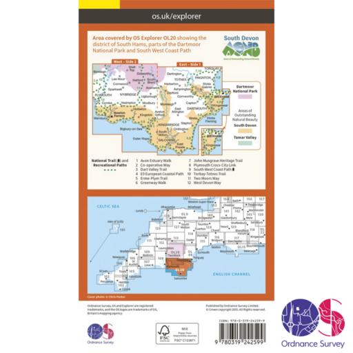Ordnance Survey Explorer – OL 20 – South Devon