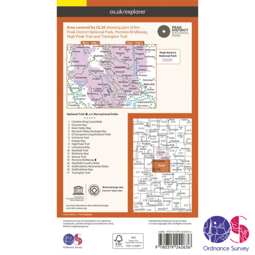 Ordnance Survey Explorer – OL 24 – Peaks – White Peak