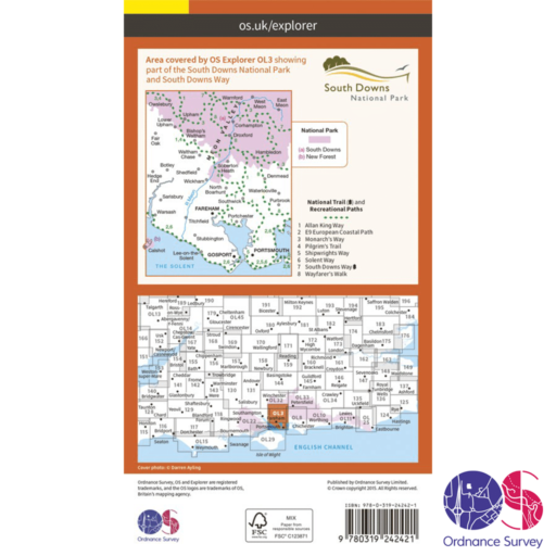 Ordnance Survey Explorer – OL 3 – Meon Valley