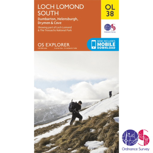 Ordnance Survey Explorer – OL 38 – Loch Lomond South