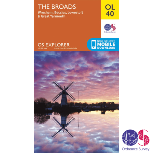 Ordnance Survey Explorer – OL 40 – The Broads