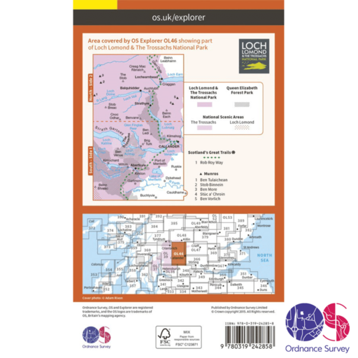 Ordnance Survey Explorer – OL 46 – The Trossachs