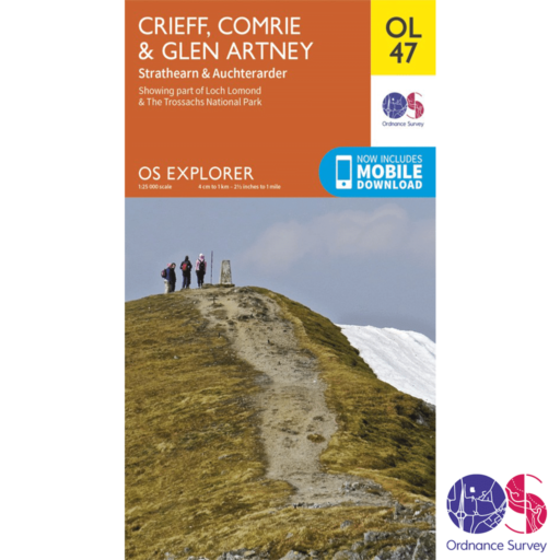 Ordnance Survey Explorer – OL 47 – Crieff, Comrie and Glen Artney