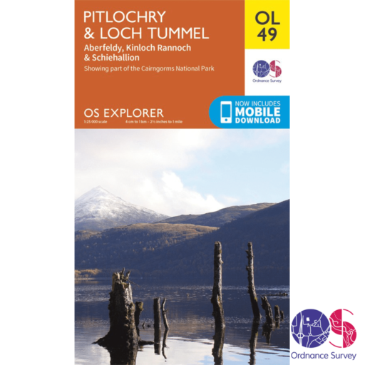 Ordnance Survey Explorer – OL 49 – Pitlochry and Loch Tummel