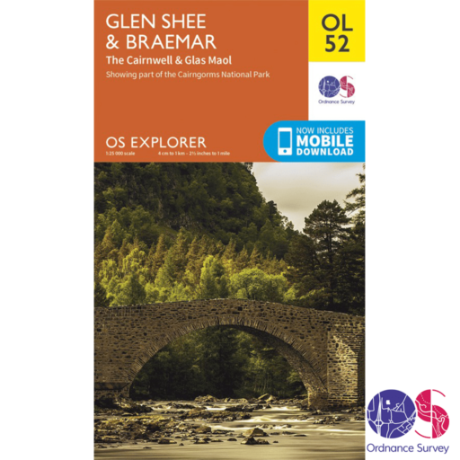 Ordnance Survey Explorer – OL 52 – Glen Shee and Braemar