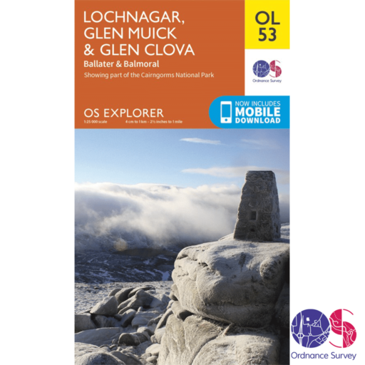 Ordnance Survey Explorer – OL 53 – Lochnagar, Glen Muick and Glen Cova
