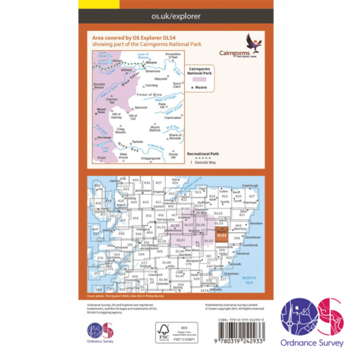 Ordnance Survey Explorer – OL 54 – Glen Esk and Glen Tanar