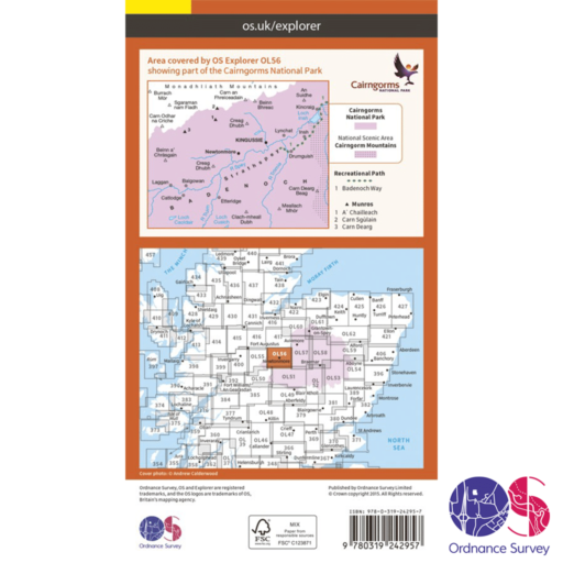 Ordnance Survey Explorer – OL 56 – Badenoch and Upper Strathspey