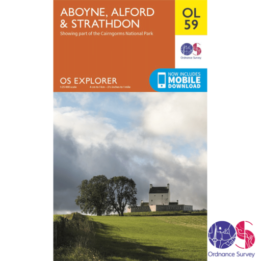 Ordnance Survey Explorer – OL 59 – Aboyne, Alford and Strathdon