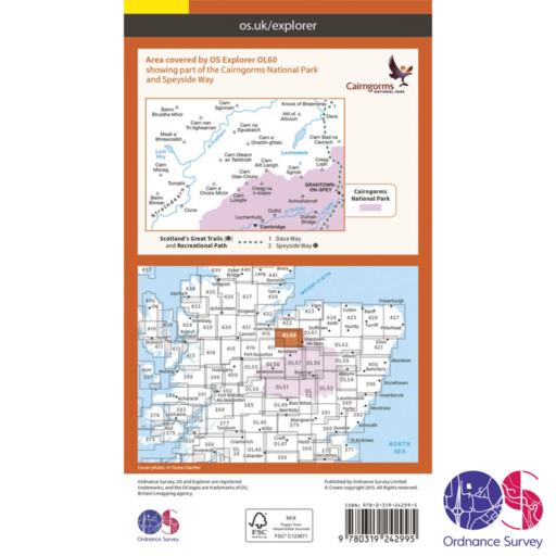 Ordnance Survey Explorer – OL 60 – Lochindoub, Grantown-on-Spey and Carrbridge