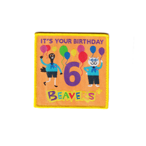 Beavers Embroidered 6th Birthday Fun Badge
