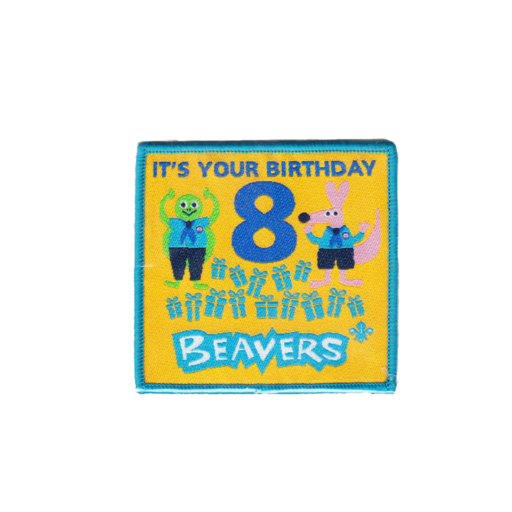 Beavers Embroidered 8th Birthday Fun Badge