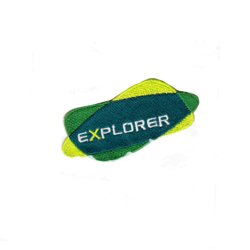 Explorers Embroidered Logo Fun Badge