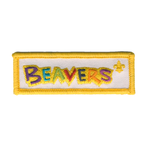 Beavers Embroidered Logo Fun Badge