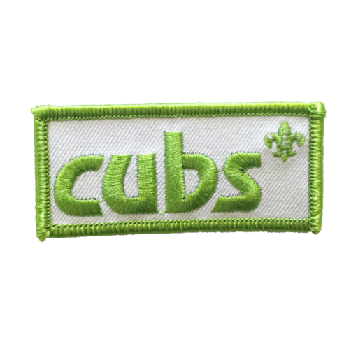 Cubs Embroidered Logo Fun Badge