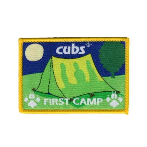 """Cubs """"First Camp"""" Fun Badge"""