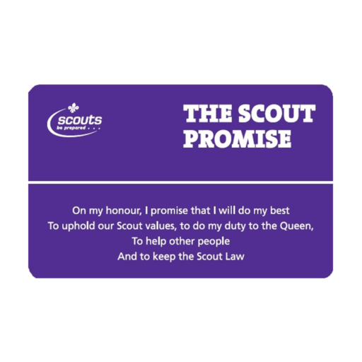 Scouts Non-religious Alternative Law and Promise Card
