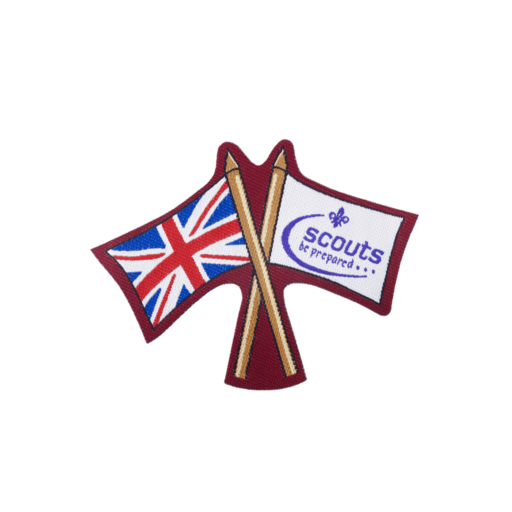 "UK/Scout Flag ""Iron-on"" Woven Fun Badge"