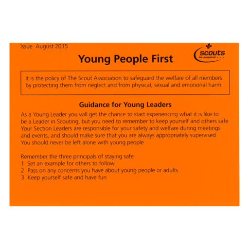 Young People First (Young Leaders) – Orange Card