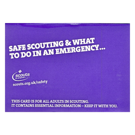 Safe Scouting and Emergency Procedures – Purple Card