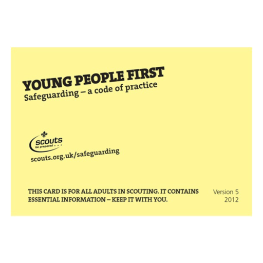 Young People First – Yellow Card