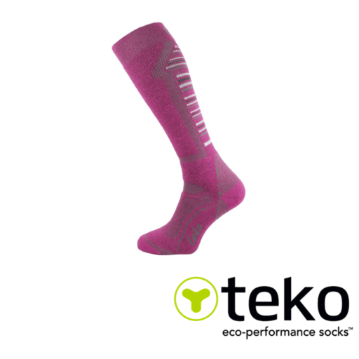 c6b34f72e2ddd Teko Women's Merino Ski Socks Medium Cushion