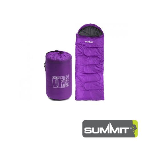 Summit Envelope Junior Sleeping Bag With Hood