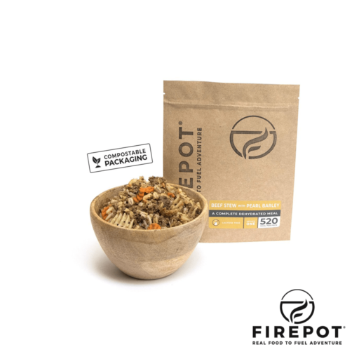 Firepot Beef Stew with Pearl Barley – Compostable Bag