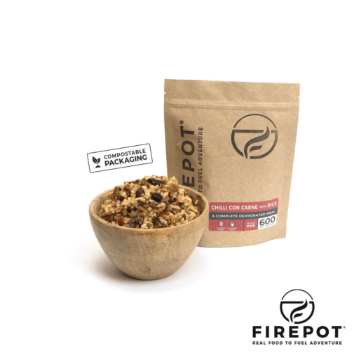 Firepot Chilli con Carne and Rice – Compostable Bag – Extra Large Serving