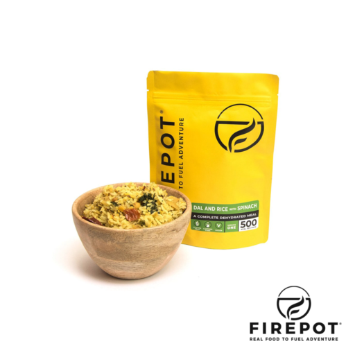 Firepot Dal and Rice with Spinach – Extra Large Serving