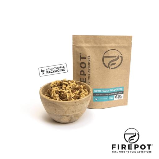 Firepot Orzo Pasta Bolognese – Compostable Bag