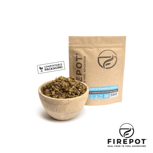 Firepot Porcini Mushroom Risotto – Compostable Bag – Extra Large Serving