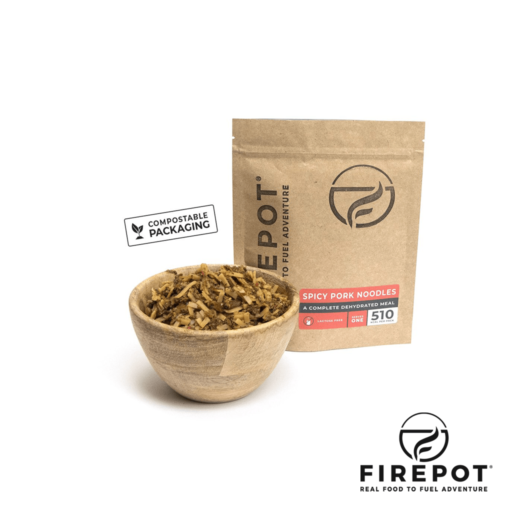 Firepot Spicy Pork Noodles – Compostable Bag – Extra Large Serving