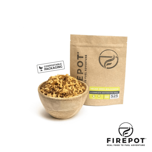 Firepot Vegan Orzo Bolognese – Compostable Bag – Extra Large Serving