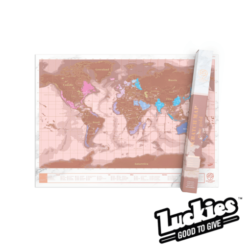 Luckies Scratch Map Rose Gold Edition
