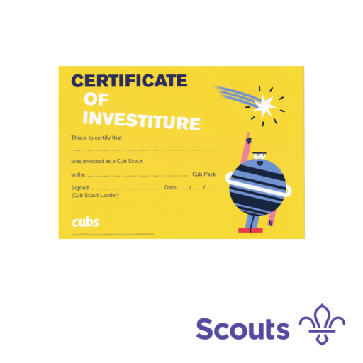Cubs Investiture Certificates  – 10 Pack