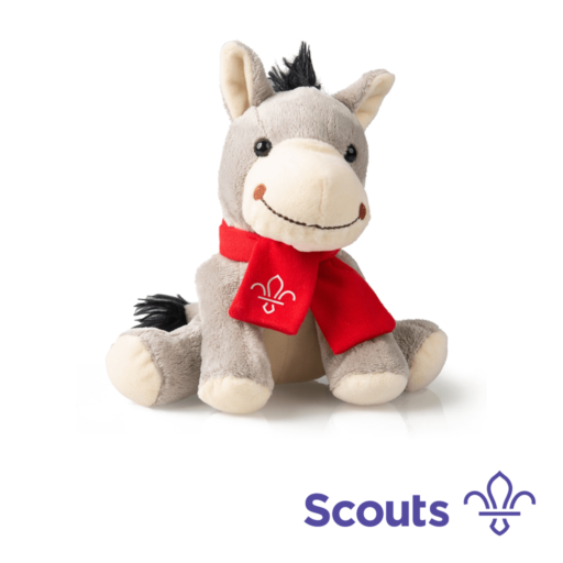 Fleur de Lis Soft Plush Donkey Toy Scouting Gift